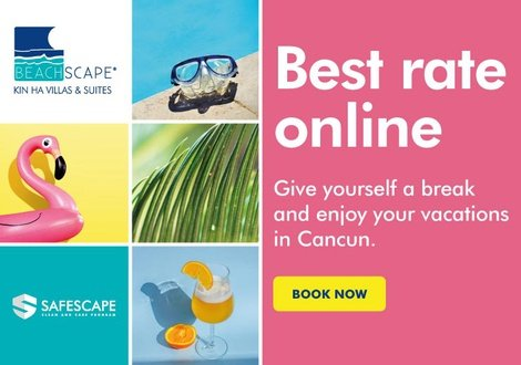 Best rate on line!  Hotel Beachscape Kin Ha Cancún